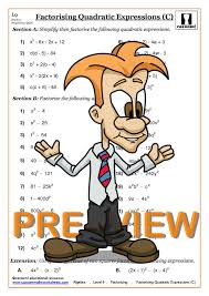ks3 and ks4 factorising worksheets