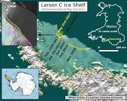 antarctic ice sheet growing antarctic ice rift close to calving after growing 17km in 6 days