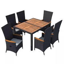 vidaxl outdoor dining set 13 piece poly rattan