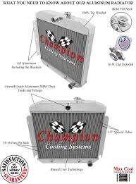 1955 1956 Chevy Bel Air 4 Row SubZero Radiator for 6 Cylinder ...