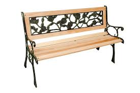 3 seater wooden rose back cast iron garden patio bench seat outdoor park seat