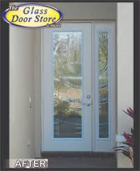 modern glass front door. 8 Ft Front Door With Matching Sidelight. Silver Caming In This Modern Glass  Insert