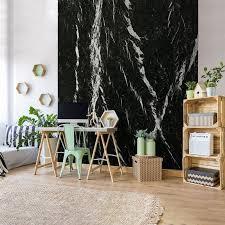 nero marquina marble panoramic wall murals