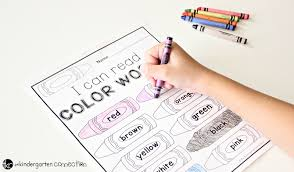 Learn colors in a fun way with these printable flashcards for kids! Color Words Free Printable The Kindergarten Connection