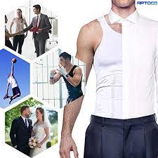 Roc Bodywear Size Chart Compression Shirts For Men Compression Vest Body Shaper Vest Slimming Vest Abs Abdomen Slim Tank Elastic Top Undershirt By Aptoco White L