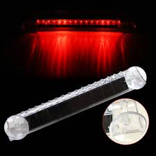 Solar Powered Red Led Lights Cdycam High Bright Solar Power Led Red Light Rear End Strobe Lamp Emergency Warning Light With Sucker For Car Vehicle Truck Red