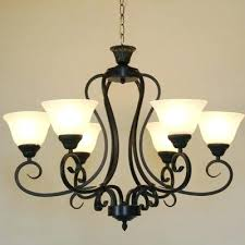 black iron chandelier vintage country 6 heads black iron chandelier pendant with glass lampshade tawny white