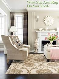 example of living room area rug display