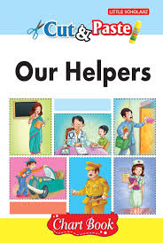 Our Community Helpers Chart Amazon In Buy Cut Paste Our Helpers Chart Book Book