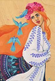 oimana | oil on wood. Alexandra Rapcencu