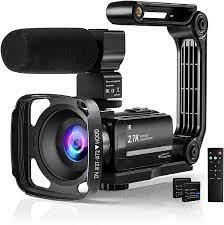 Videokamera 2.7K Camcorder mit Mikrofon,Vlog Kamera zum: Amazon.de: Kamera