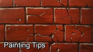 acrylic painting lesson how to paint bricks by jm lisondra