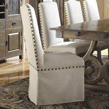 nailhead dining chairs dining room. Dining Chairs, Chairs Nailhead Trim Grey Fabric Skirted Room