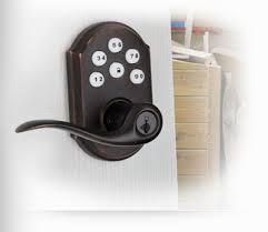 kwikset electronic lever lock with rekey technology