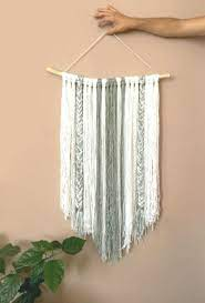 wall decor macrame bohemian decor yarn