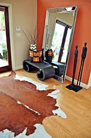 sheridan lumber with transitional spaces also cowhide cowhide rug entryway entryway bench orange oversized mirror