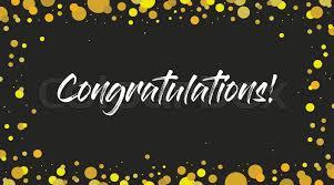 Congratulations Poster Congrats Congratulations Banner Stock Vector Colourbox