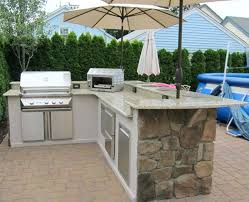 l shaped outdoor kitchen l shaped outdoor kitchen kits dark wooden dining table wall mounted hood l shaped outdoor