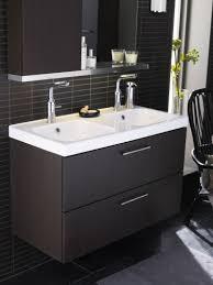 Bathroom Small Bathroom Design Idea with Modern Black Vanity also