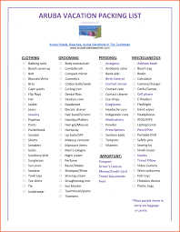 packing list sample form 14 vacation packing list template survey template words