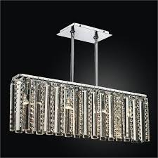 rectangular glass chandelier odyssey 624dm4lsp 7c