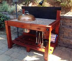 picture of weber bbq table