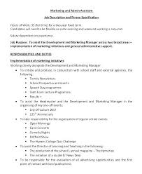 Job Descriptions For Marketing Manager – Andaleco