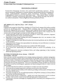Examples Of Marketing Resumes Manufacturing Executive Resume Examples Pinterest Sample