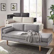 Caela Mid-Century Chaise Lounge with Pillow by iNSPIRE Q Modern by iNSPIRE Q