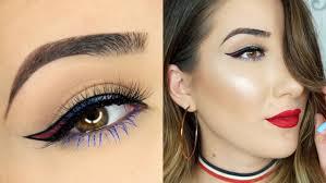 fourth of july eye makeup tutorial by paulina alaiev 2017 07 19