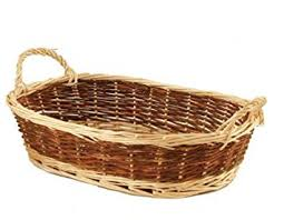empty gift basket 2 colored wicker with handles