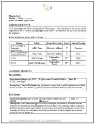 Resume Format Downloads Bunch Ideas Of Resume Samples For Freshers
