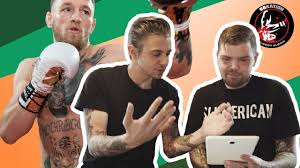 Video Tattoo Artists React To Ufc Champion Conor Mcgregors Ink
