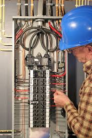 electrical panel replacement which brand is right for you? Wiring A Homeline Service Panel electrician working on a service panel Electrical Wiring Main Service Panel