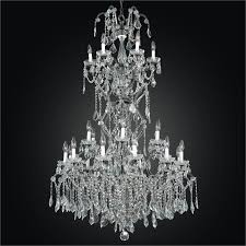 old world iron glow grand foyer crystal chandelier 543af25lvp 3c