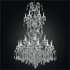 old world iron glow grand foyer crystal chandelier 543af25lvp 3c
