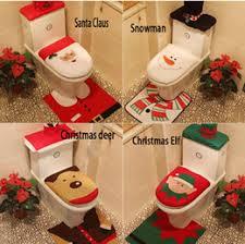 decorative orange santa bathroom carpet
