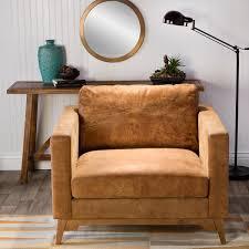tan leather club chair