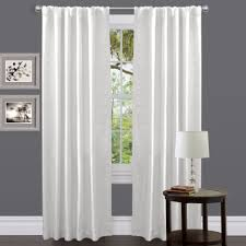 image of white living room curtain ideas