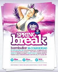 Spring Party Flyer Email Templates Photoshop Template