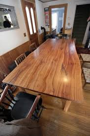 Custom Made Live Edge Cherry Kitchen Table By Wooden Hammer Llc