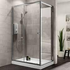 Plumbsure Rectangular Shower Enclosure with Single Sliding Door (W)1200mm  (D)760mm | Departments | DIY at B&Q