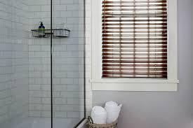 bathroom window. Bathroom Fauxwood Wood Tones Blinds Custom Made To Go For Window In