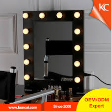 professional hollywood style makeup mirror with led light desktop metal mirror