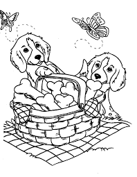 coloring page of a puppy - 100 images - german shepherd puppy ...