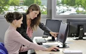 office girl wallpaper.  Office 3840x2400 Wallpaper Girls Work Office Monitors Computers Communication Intended Office Girl E