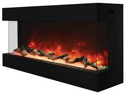 electric fireplace amantii 50 tru view xl 3 sided glass