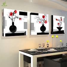 contemporary bedroom wall art. Exellent Bedroom JHLJIAJUN 3Pcs Modular Canvas Painting Wall Art Decor Print Red Flowers  Black Modern Bedroom Paintings And Contemporary
