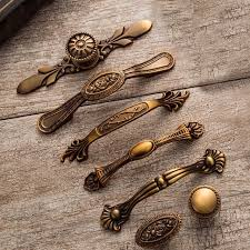 Image Victorian Yellow Bronze Door Handles Noble Antique Drawer Pulls Vintage Kitchen Cabinet Handles And Knobs Retro Furniture Ebay Yellow Bronze Door Handles Noble Antique Drawer Pulls Vintage