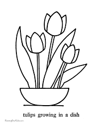 Small Picture Tulips coloring pictures 035